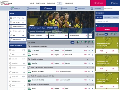 Apuestas Deportivas Casino Gran Madrid Online