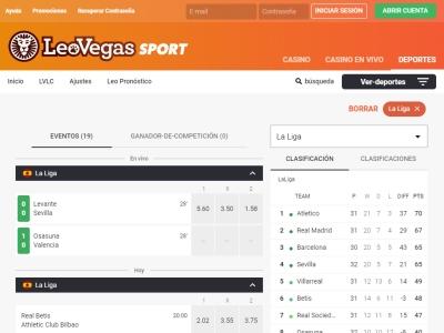 Apuestas Deportivas LeoVegas